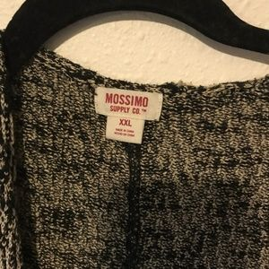 Mossimo Supply Co. Sweaters - Black and white marled cocoon cardigan